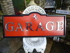 Ferrari Garage Sign For Sale