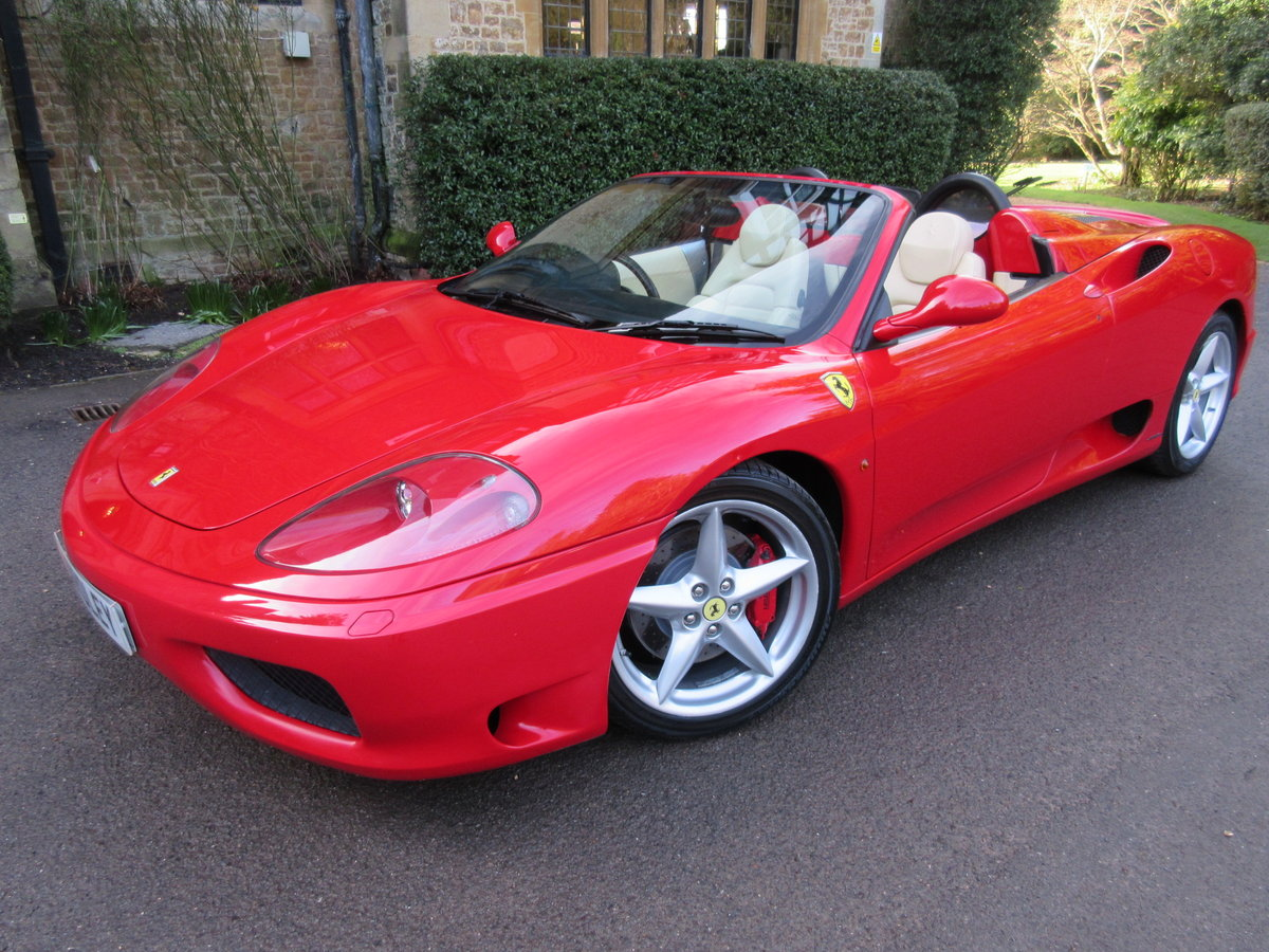 2004 Ferrari 360 Spider manual For sale on behalf of the owner For Sale (picture 1 of 6)