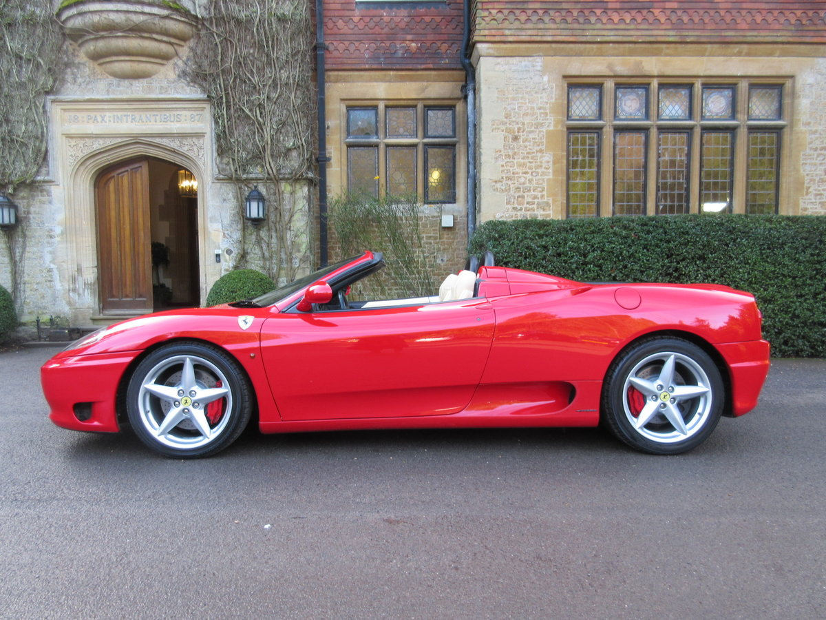 2004 Ferrari 360 Spider manual For sale on behalf of the owner For Sale (picture 2 of 6)
