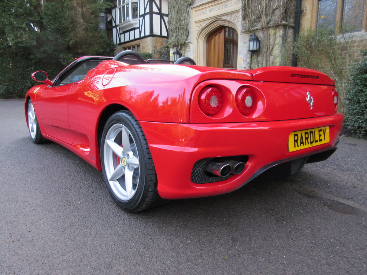 2004 Ferrari 360 Spider manual For sale on behalf of the owner For Sale (picture 3 of 6)