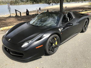2013 Ferrari 458 Spider F1 = All Black + Carbon  $189k