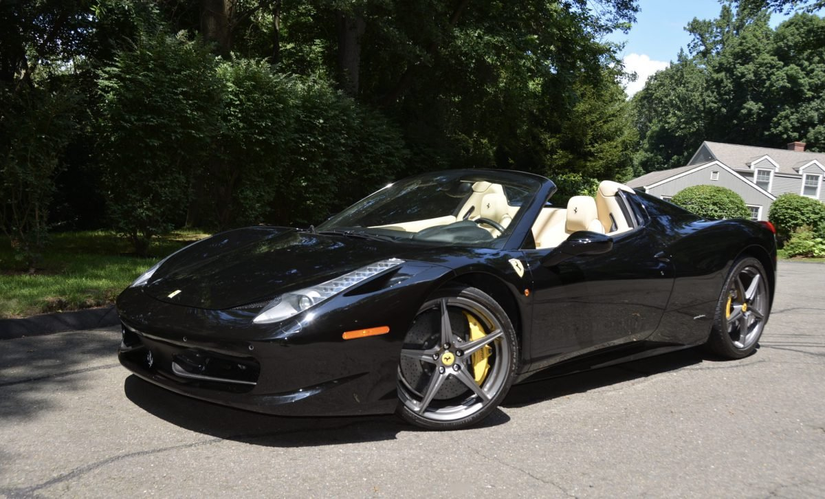 2015 Ferrari 458 Spider F1 = Black(~)Tan 8k miles $obo For Sale (picture 1 of 6)