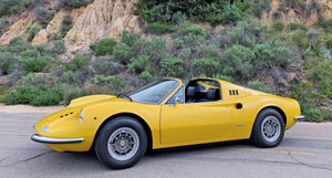1973 Ferrari Dino 246 GTS  = clean Yellow driver 19k miles For Sale