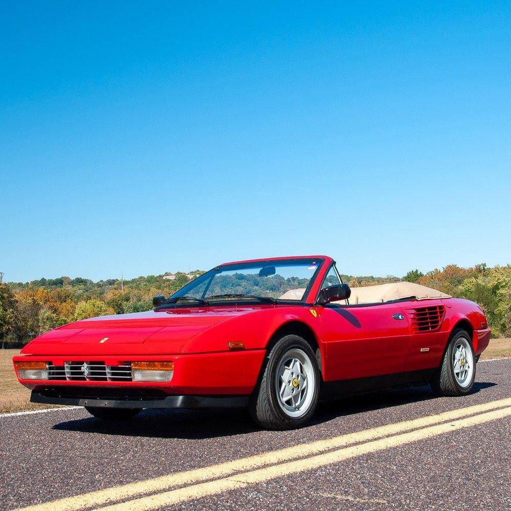 1986 Ferrari Mondial Spider Cabriolet = 3.2 Red(~)Tan $39