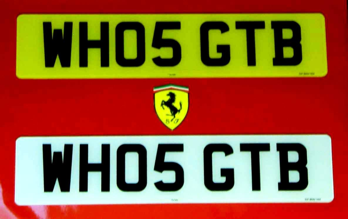 WHO5 GTB - FERRARI CHERISHED REGISTRATION NUMBER For Sale (picture 1 of 5)