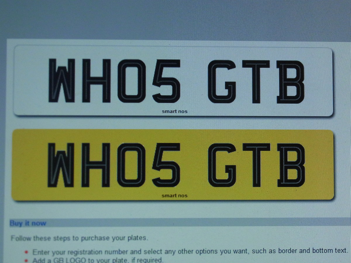 WHO5 GTB - FERRARI CHERISHED REGISTRATION NUMBER For Sale (picture 3 of 5)