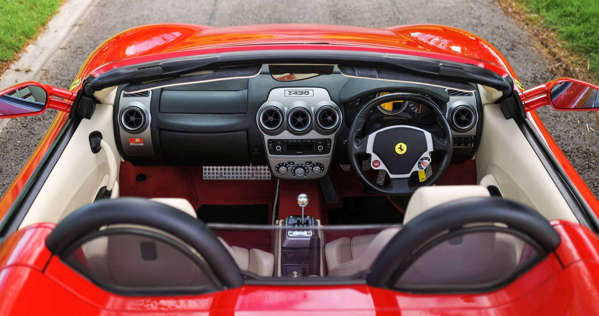 2007 Ferrari F430 Spider Manual with Only 17,412 Miles For Sale (picture 3 of 6)