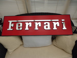 Ferrari 3D Hand Made Sign. For Sale