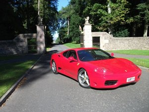 2003 Ferrari 360 Modena at Morris Leslie Auction 25th May SOLD by Auction