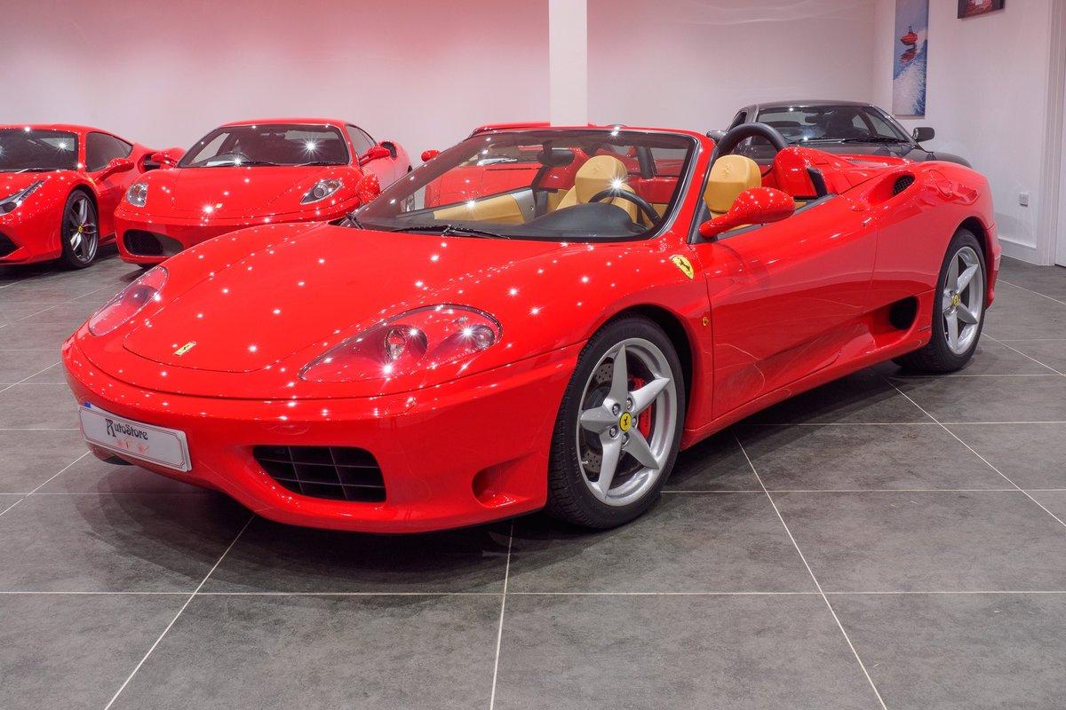 2003 Ferrari 360 Manual Gearbox : Rosso Corsa : Ultra Low Mileage For Sale (picture 3 of 6)