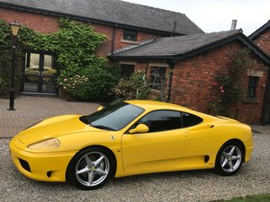 Ferrari 360 F1 Modena,1999, RHD, Giallo Yellow FSH For Sale
