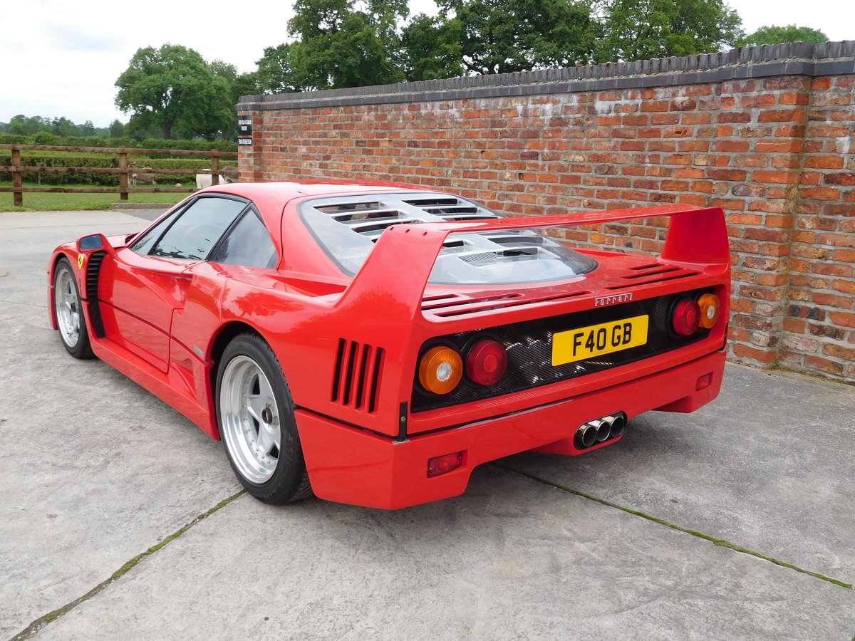 Ferrari F40 1987-1992 F40 Registration  For Sale (picture 1 of 6)