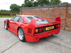Ferrari F40 1987-1992 F40 Registration  For Sale