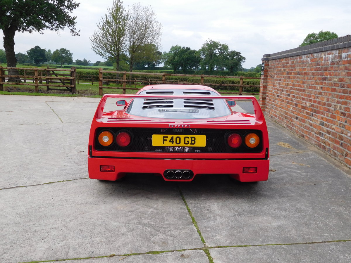 Ferrari F40 1987-1992 F40 Registration  For Sale (picture 3 of 6)