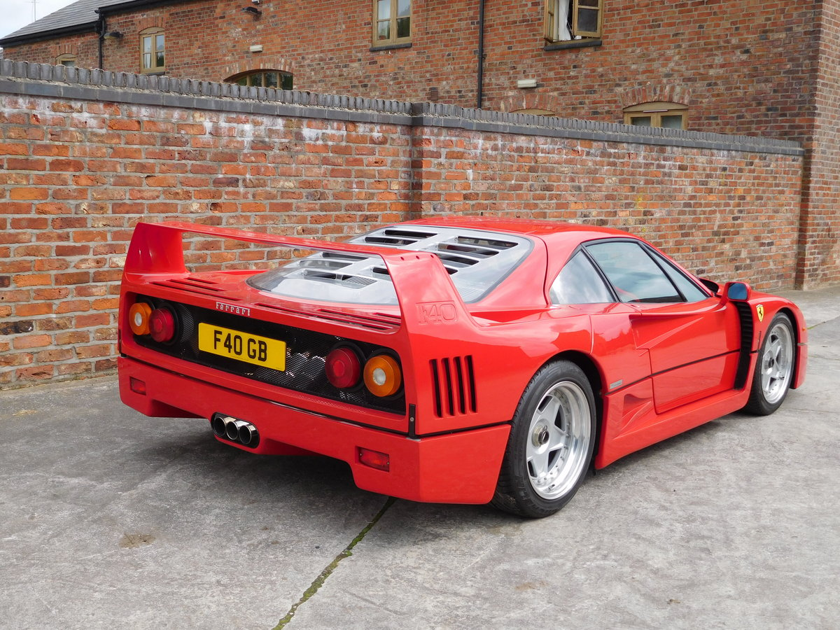 Ferrari F40 1987-1992 F40 Registration  For Sale (picture 5 of 6)