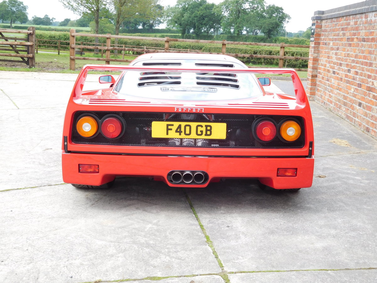 Ferrari F40 1987-1992 F40 Registration  For Sale (picture 6 of 6)