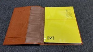 1990 F40 owners manual + Scedoni leather cover For Sale