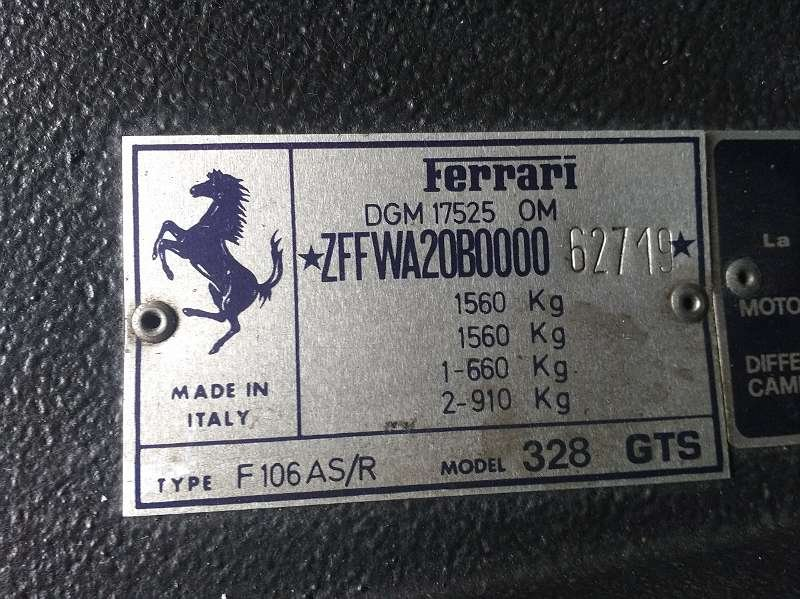 1986 Ferrari 328, Ferrari GTS, Ferrari 328 GTS For Sale (picture 4 of 6)