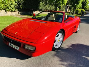 1994 348 spider red with cream Immaculate manual rhd  For Sale