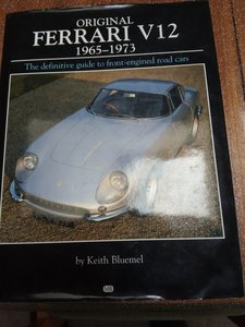 Original Ferrari V12 book 1965-1973