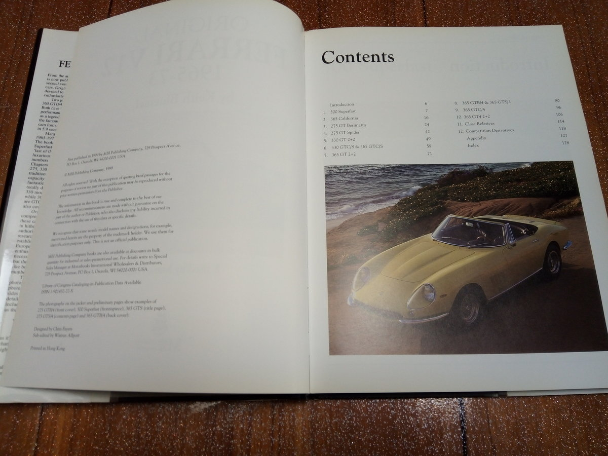 Original Ferrari V12 book 1965-1973 For Sale (picture 3 of 4)