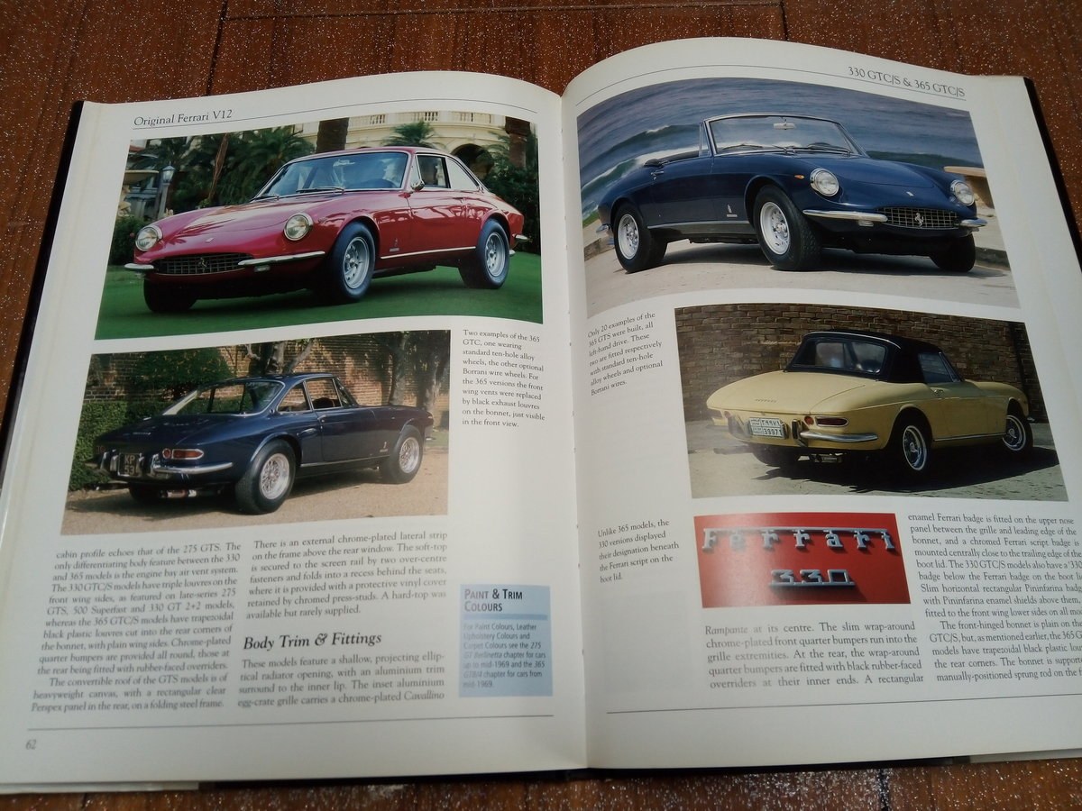 Original Ferrari V12 book 1965-1973 For Sale (picture 4 of 4)
