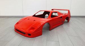 1984 Ferrari F40 Fiberglass model scale 1:3 For Sale