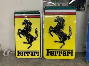 1985 Original Ferrari Illuminated Sign XL For Sale