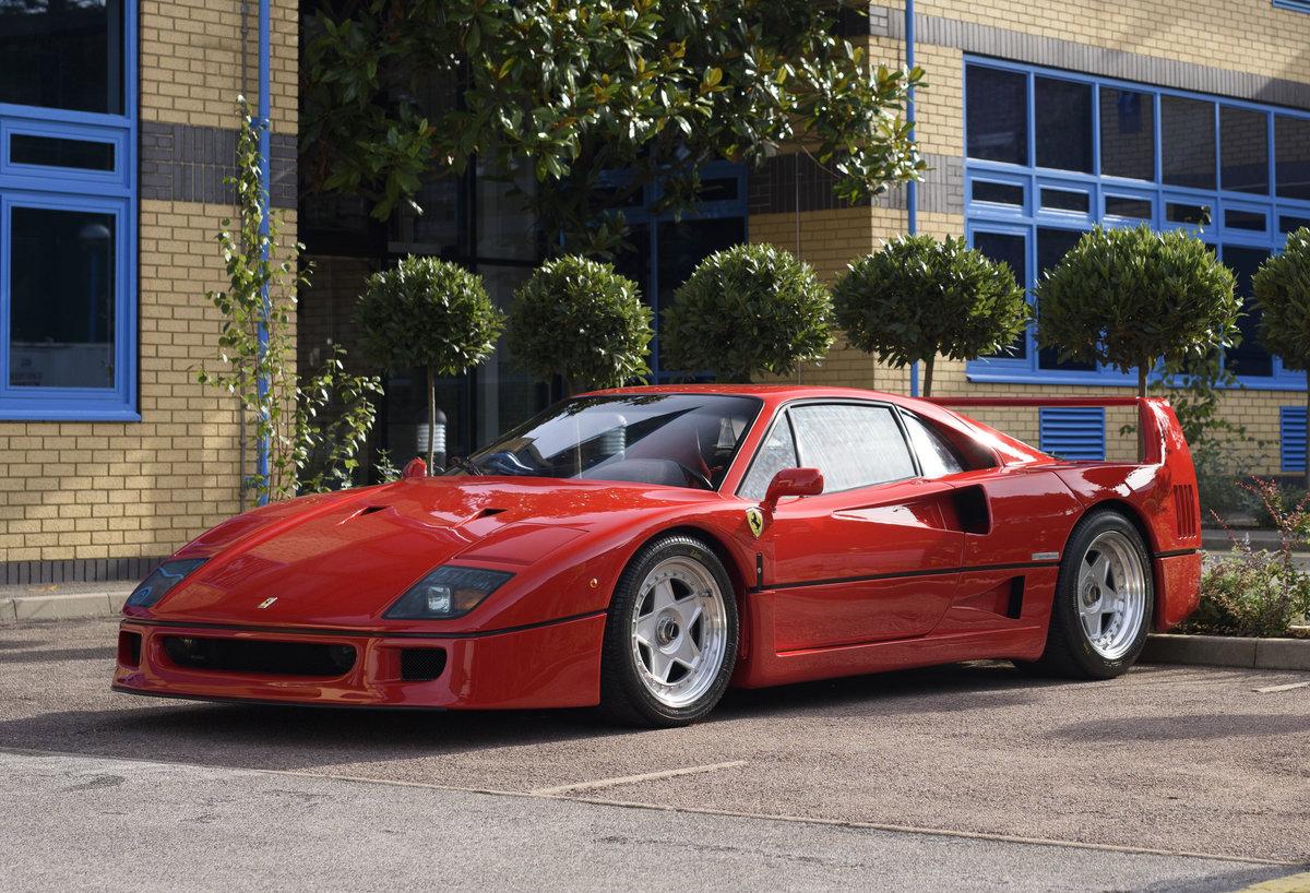 1990 Ferrari F40 Catalyst/Non-Adjust For Sale In London  For Sale (picture 1 of 24)