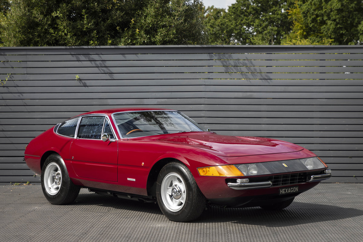 1971 FERRARI DAYTONA PLEXI GLASS UK FERRARI CLASSICHE CERTIFIED For Sale (picture 1 of 24)