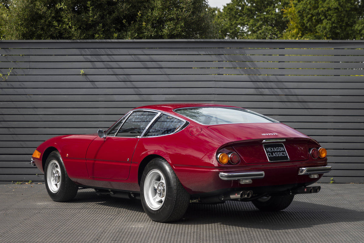 1971 FERRARI DAYTONA PLEXI GLASS UK FERRARI CLASSICHE CERTIFIED For Sale (picture 2 of 24)