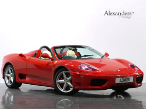 2002 02 02 FERRARI 360 MODENA SPIDER F1 AUTO For Sale