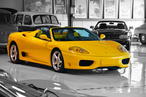 2001 - Ferrari 360 Spider Manual LHD Giallo Modena