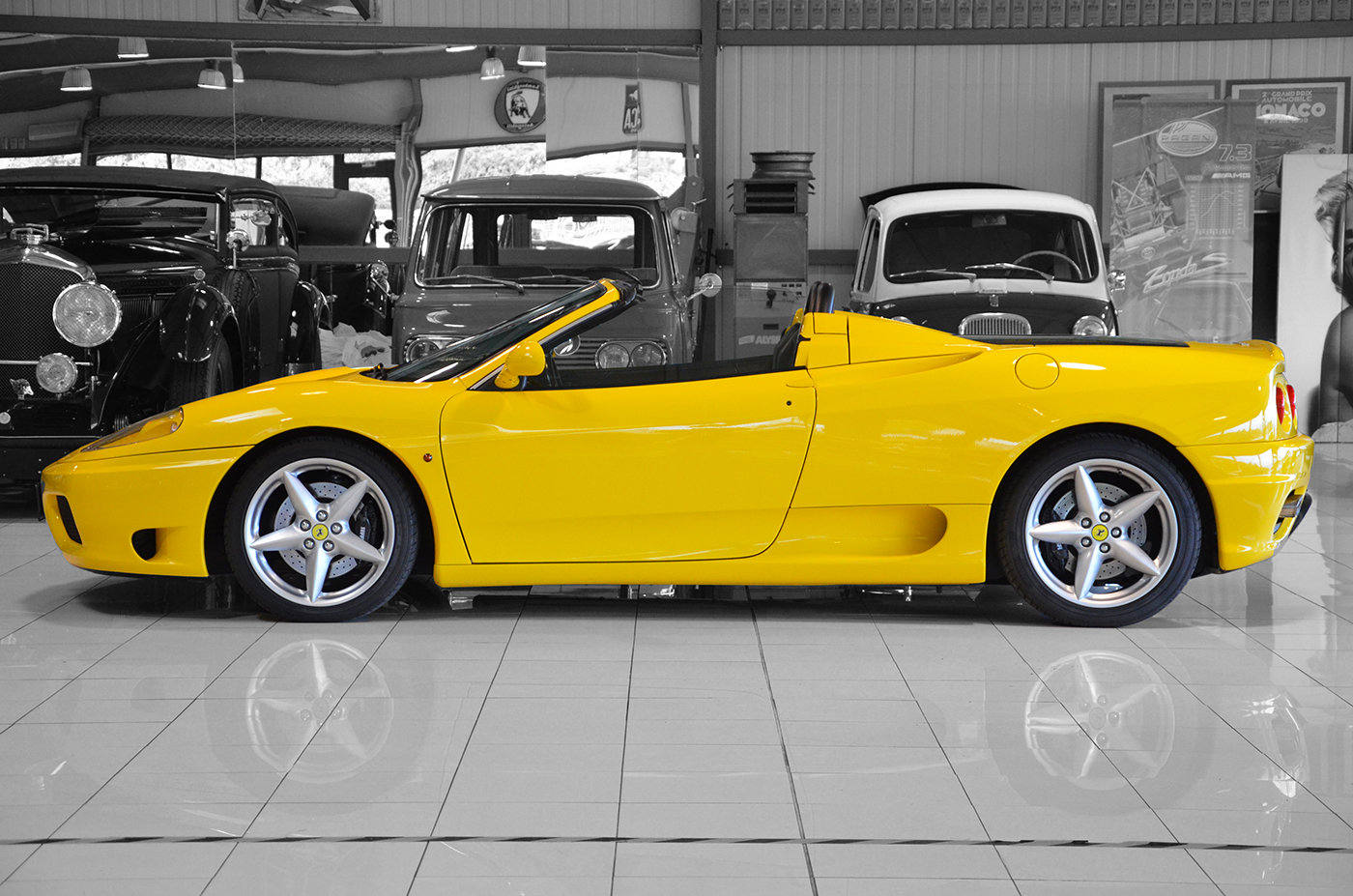 2001 - Ferrari 360 Spider Manual LHD Giallo Modena For Sale (picture 2 of 6)