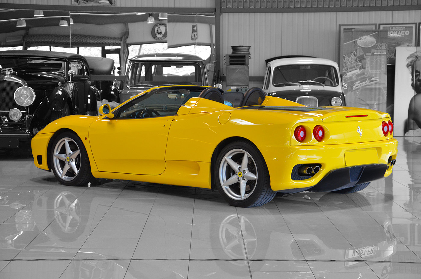 2001 - Ferrari 360 Spider Manual LHD Giallo Modena For Sale (picture 3 of 6)