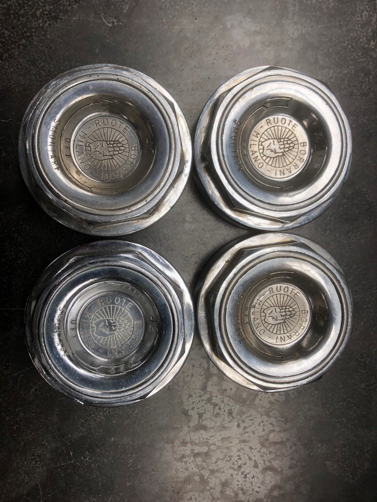 Set of Ferrari 365GTB/4 Borrani Wheel Knock Off Nut 42 rudge For Sale (picture 1 of 5)