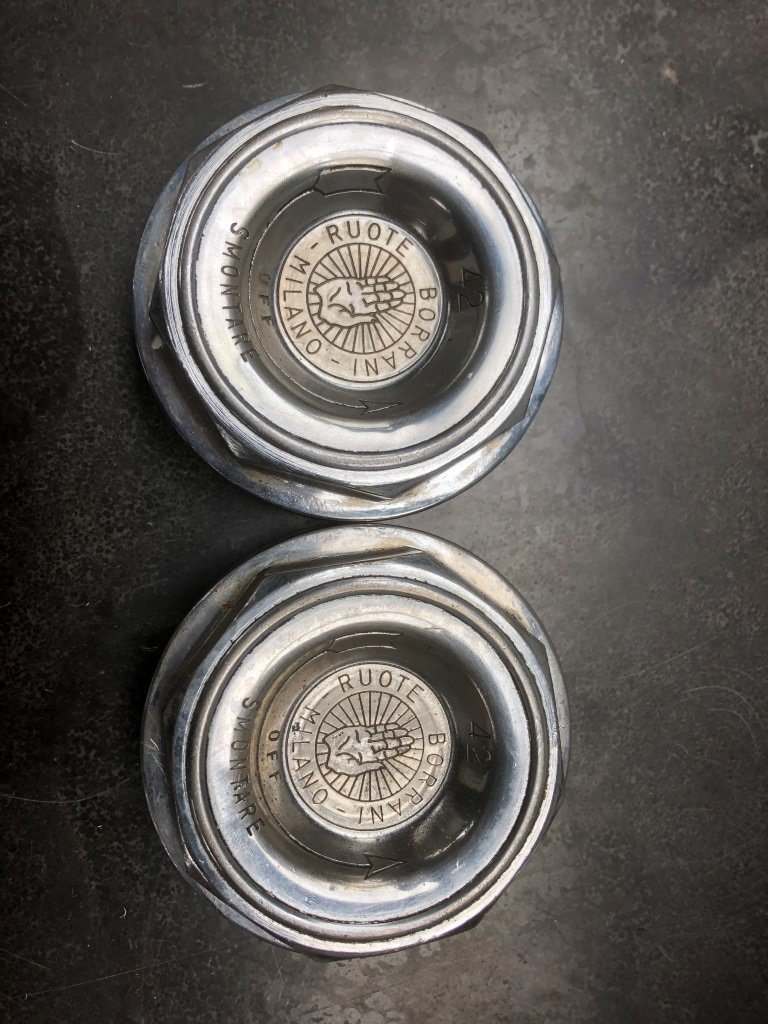 Set of Ferrari 365GTB/4 Borrani Wheel Knock Off Nut 42 rudge For Sale (picture 2 of 5)