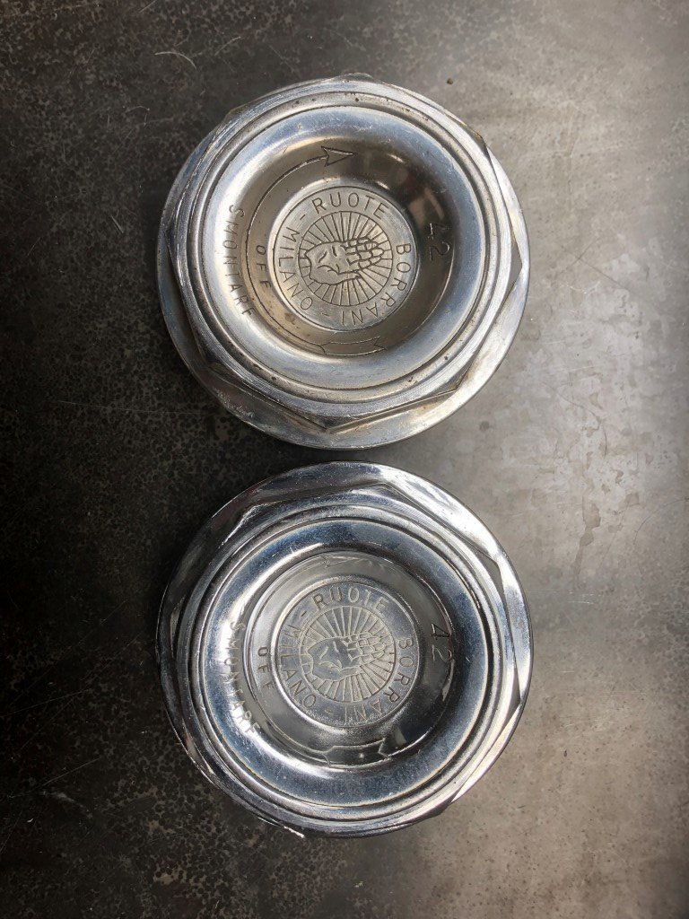 Set of Ferrari 365GTB/4 Borrani Wheel Knock Off Nut 42 rudge For Sale (picture 3 of 5)