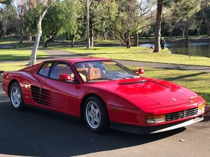 1990 Ferrari Testarossa  Red(~)Tan driver 21k miles  102.5k For Sale