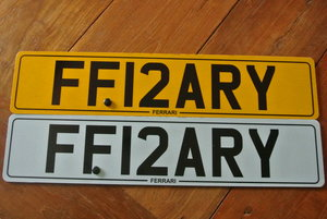 2012 Unique Ferrari Number Plate FF12ARY For Sale