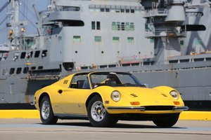 1973 Ferrari 246GTS Dino Fly Yellow California Car  For Sale