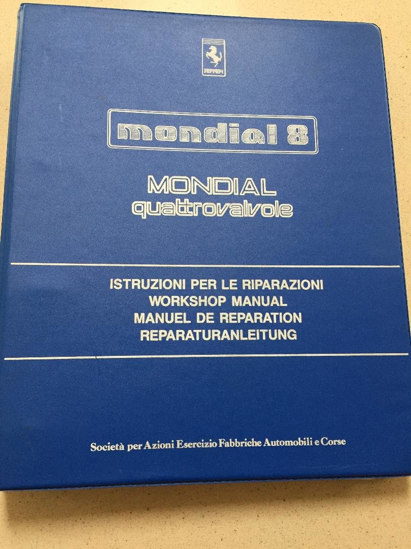 1983 Ferrari mondial 8 quattrovalvole service manual For Sale (picture 1 of 5)