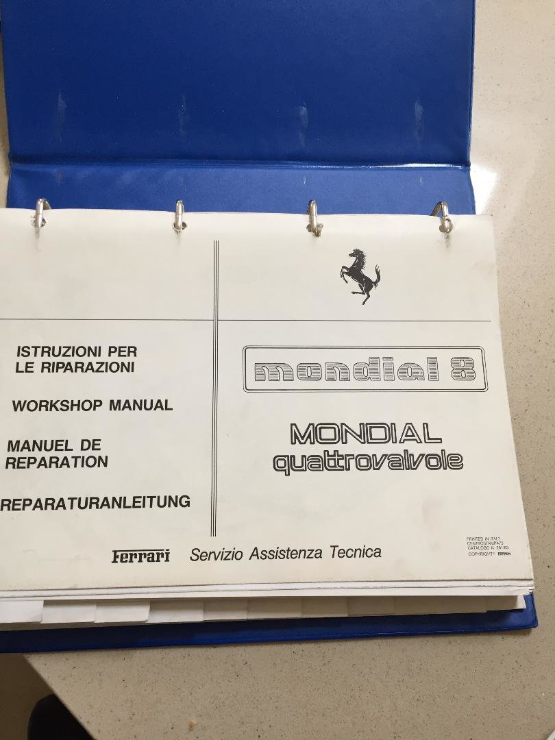 1983 Ferrari mondial 8 quattrovalvole service manual For Sale (picture 5 of 5)