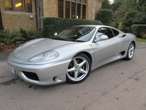 2002 SOLD-ANOTHER REQUIREDFerrari 360 Modena MANUAL-28,000 miles  For Sale
