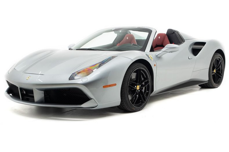 2019 Ferrari 488 Spider Convertible only 110 miles Silver For Sale (picture 1 of 6)