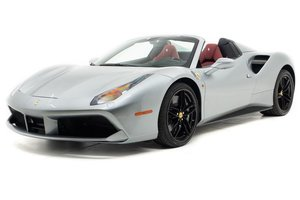2019 Ferrari 488 Spider Convertible only 110 miles Silver For Sale