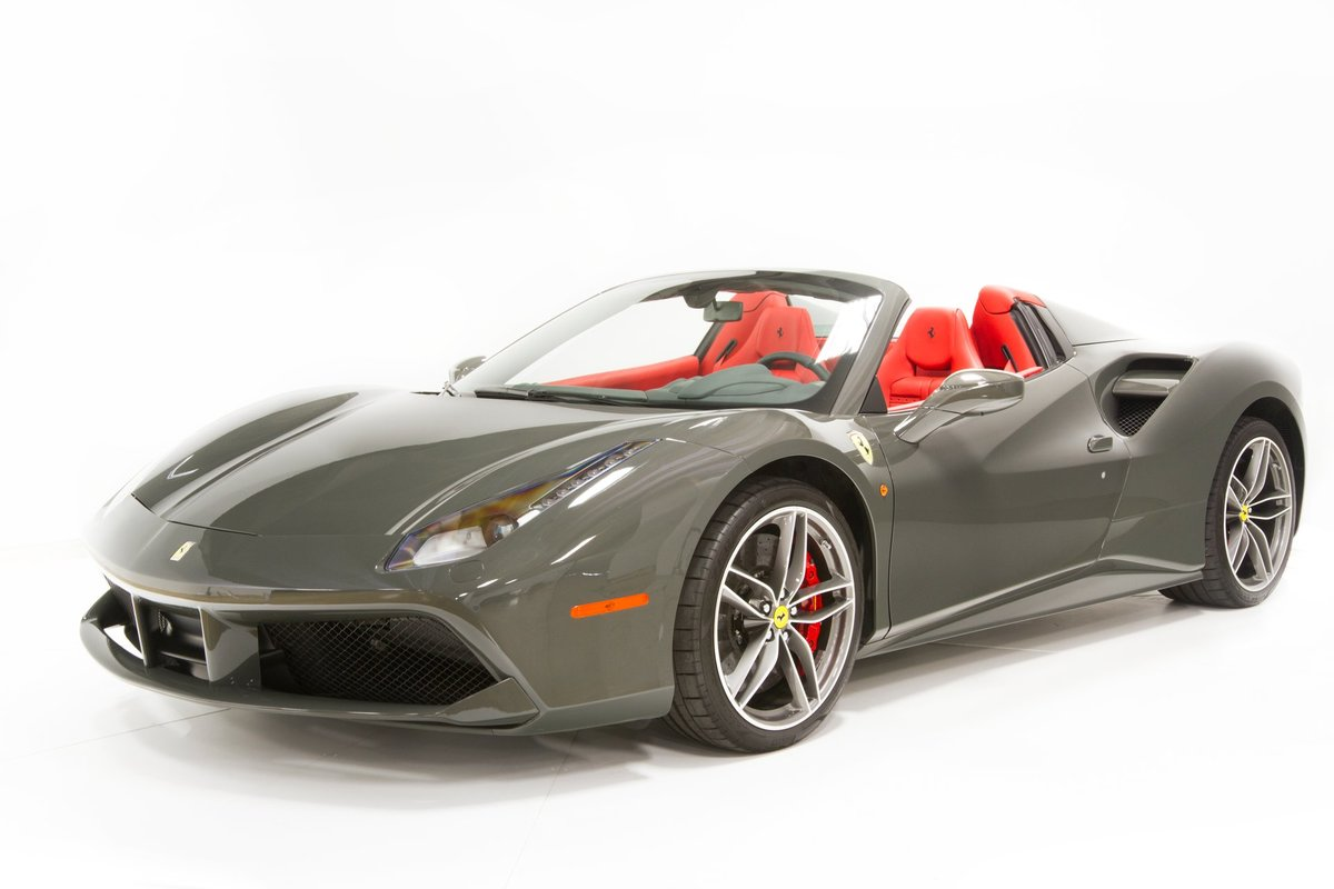 2019 Ferrari 488 Spider Convertible only 110 miles Silver For Sale (picture 6 of 6)