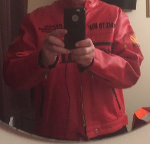 2004 Ferrari vintage leather jacket For Sale