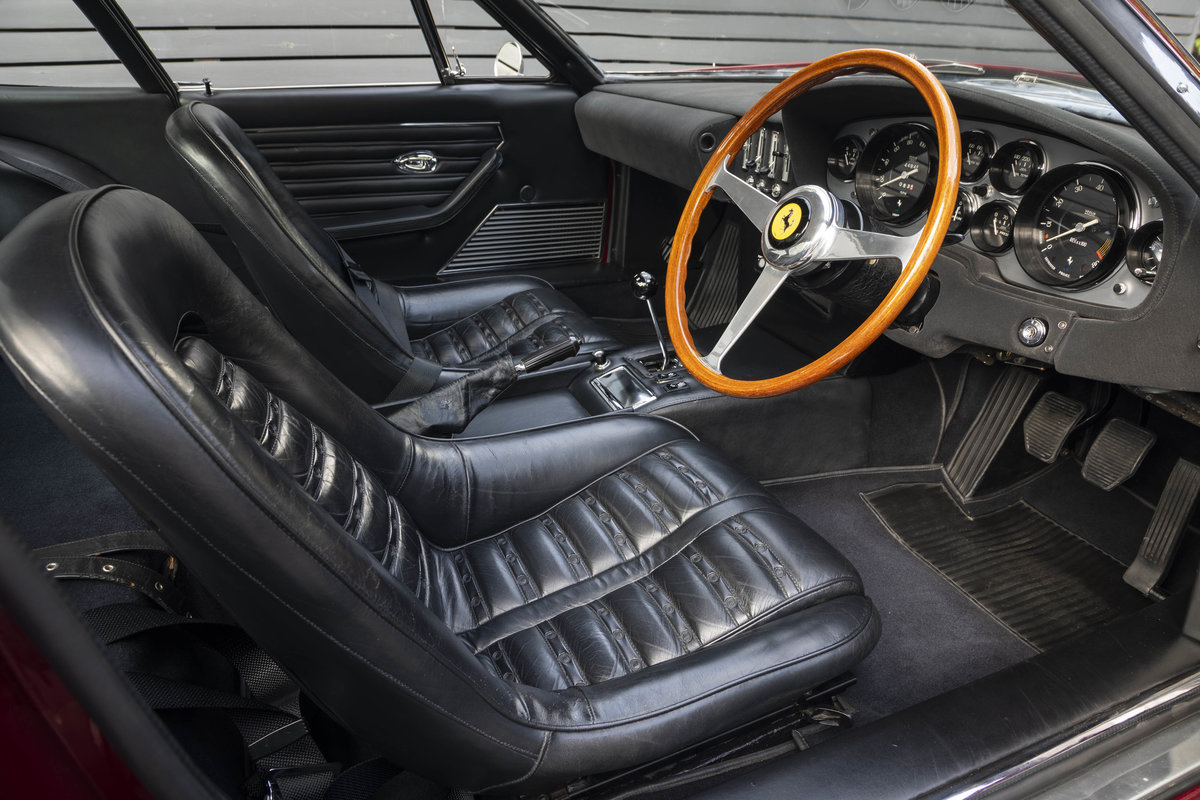 1971 FERRARI DAYTONA PLEXI GLASS UK FERRARI CLASSICHE CERTIFIED For Sale (picture 14 of 24)