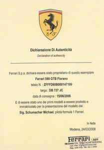 2006 Ferrari 599 GTB Fiorano F1
